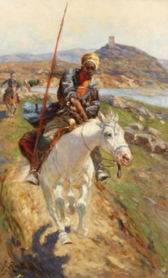 Equestrian Kurd by Franz Alexeivich ROUBAUD