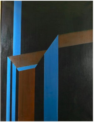 Geometrisk Komposition I Svart by Einar LYNGE-AHLBERG
