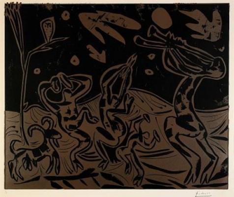 Les Danseurs Au Hibou, Bloch 936 by Pablo PICASSO