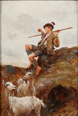 Herdepojke by Hubert Von HERKOMER