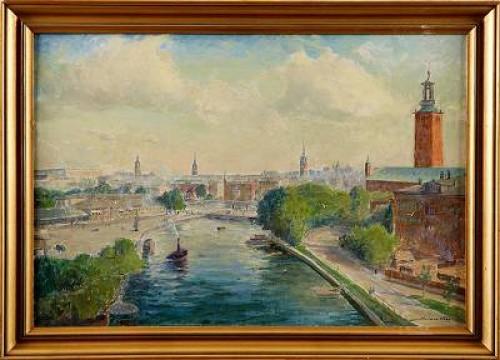 Utsikt Från Kungsholmsstrand I Stockholm by Herman HÄGG