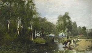 Sommarlandskap by Arvid Mauritz LINDSTRÖM