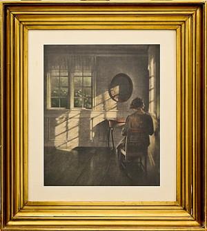 Kvinna Vid Bord by Peter Vilhelm ILSTED