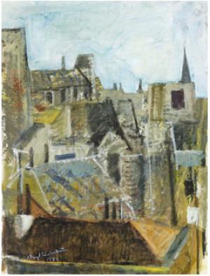Utsikt Från Konstnärens Ateljé I Paris by Bengt LINDSTRÖM