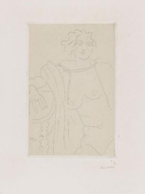 Figure Assise, Le Bras Droit Appuyé Sur Une Table by Henri MATISSE
