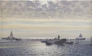 Fiskebåtar I Gryning by Emil EKMAN