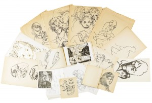 Collection, A Folder Containing 21 Drawings by Anatolii Timofeevich 'Az' ZVEREV