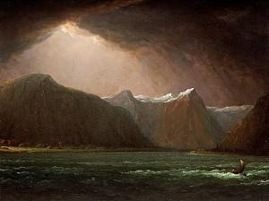 Sognefjorden; Framnäs Och Balestrand, Frithiofs Och Ingeborgs Hem. by Carl Johan FAHLCRANTZ