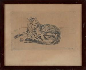 Katt by Théophile Alexandre STEINLEN