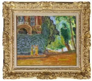 Trois Femmes En Jaune Dans Un Paysage by Pierre BONNARD