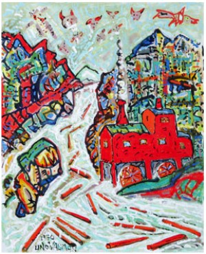 Timmerflottning by Uno VALLMAN