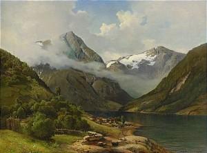 Fjordlandskap Med Gårdsmiljö by Josefina HOLMLUND