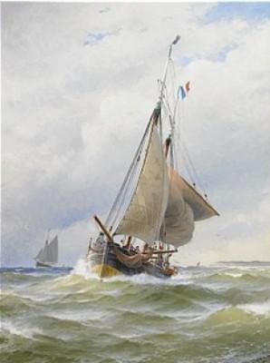 Fransk Chasse-marée I Engelska Kanalen by Jacob HÄGG