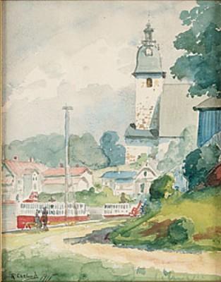Vid Kyrkan by Ragnar EKELUND