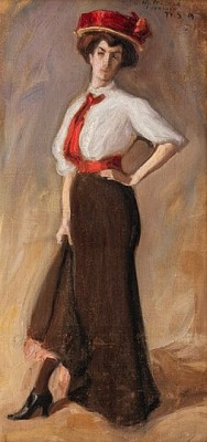 Woman Posing by Wilho SJÖSTRÖM