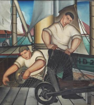 Fiskare Med Sina Nät by Sven JONSON