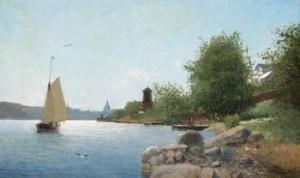 Waldemarsudden, Professor Malmstens Villa by Christian Fredrik SWENSSON