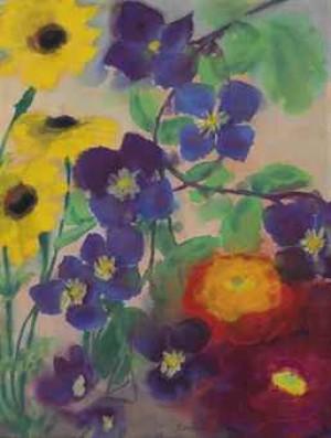 Blumen by Emil NOLDE