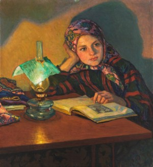 Reading Girl by Nikolai Petrovich BOGDANOV-BELSKY