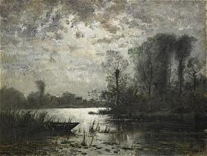 Landskap Med Vatten - Månsken by Oscar TÖRNÅ
