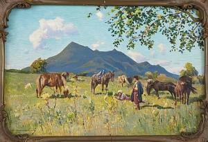 Beshtau Mountain Caucasus by Sergei Ivanovich VASILKOVSKY