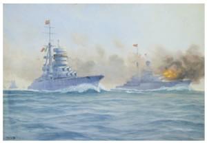 Konvoj Av Krigsfartyg by Adolf BOCK