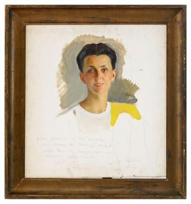 Portrait Of Anna, The Artist's Wife by Savelii Abramovich SORINE