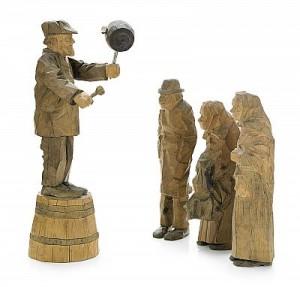 Auktion - 4 Figurer by Axel 'Döderhultarn' PETERSSON