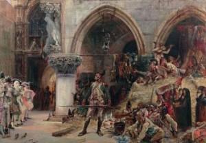 Devant Le Palais Ducal - Un Campement De L'armée Française by Georges Jules Victor CLAIRIN