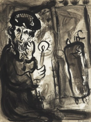 Le Rabin by Marc CHAGALL