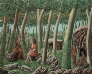 Four Figures In A Forest by André BAUCHANT