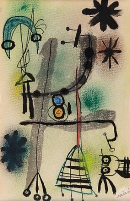 Untitled (personnages Et étoiles). by Joan MIRO