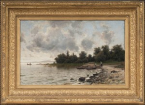 Fiskare På Stranden by Berndt LINDHOLM