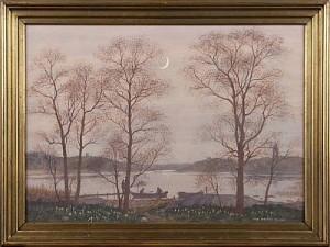 Alar Vid Nymåne by Oskar BERGMAN