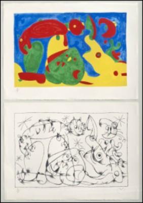 (2) Ubu Roi Xi, La Nuit L'ours by Joan MIRO