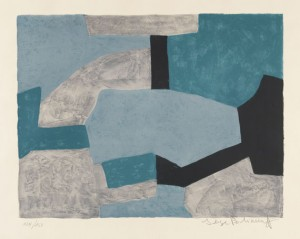 Composition Grise, Verte Et Bleue by Serge POLIAKOFF
