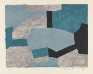 Composition Grise, Verte Et Bleue by Serge POLIAKOFF