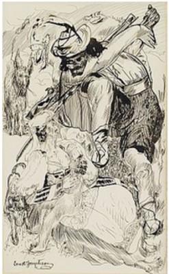 Komposition Med Figurer by Ernst JOSEPHSON