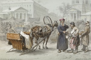 Sennaya Ploshad In St. Petersburg: La Place Du Marché Aux Foins by Adolphe Iosifovich CHARLEMAGNE