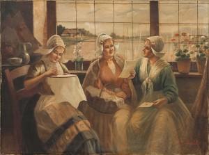 Handarbetande- Och Brevläsande Kvinnor by Alois TELARIK