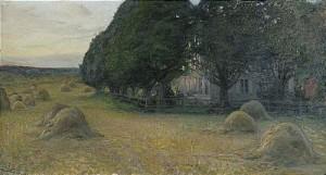 Landskap I Aftonrodnad by Hanna PAULI