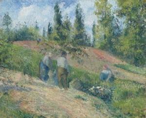 La Récolte, Pontoise by Camille PISSARRO