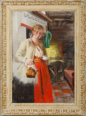 Kvinna I Härbre by Ingrid RUIN