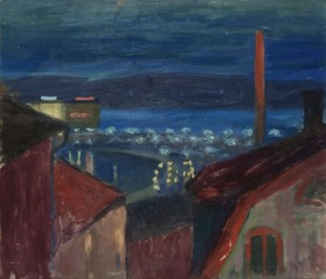 Takåsar, Gamla Stan by Hjalmar GRAHN