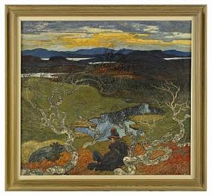 Vårafton Bakom Kiruna by Helmer OSSLUND