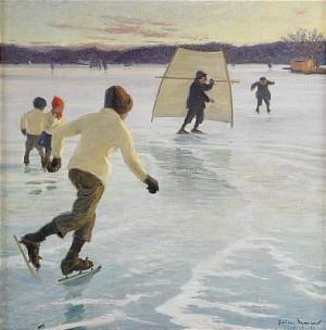 Ute På Isen by Hilding NYMAN