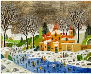Paysage Enneigé Au Manoir by Alain THOMAS