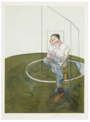 Right Panel For Threee Studies Of John Edwards by Francis BACON