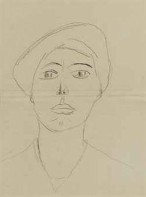 Portrait De Femme by Henri MATISSE