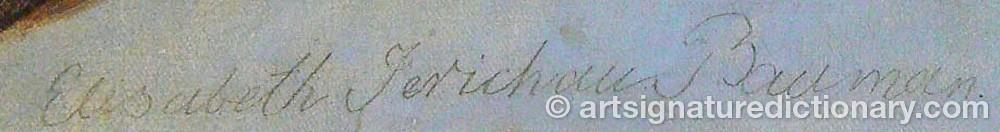 Signature by Elisabeth Jerichau BAUMANN